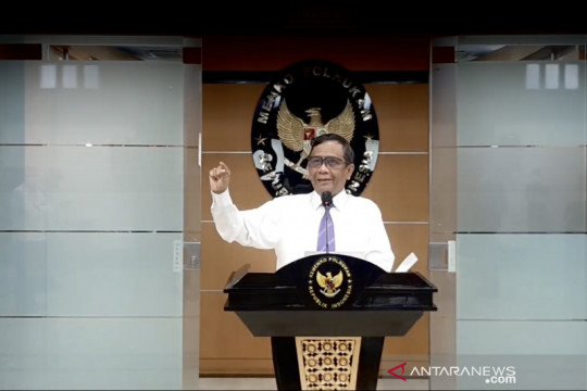 Mahfud MD: Pemerintah tindak tegas demonstrasi tidak sesuai prokes