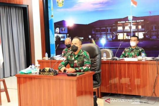 Kasdam XVII/Cenderawasih vicon dengan Panglima TNI bahas pandemi COVID-19
