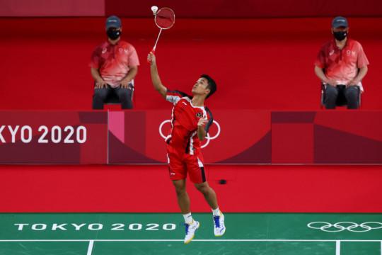 Ginting amankan kemenangan pertama di Olimpiade Tokyo