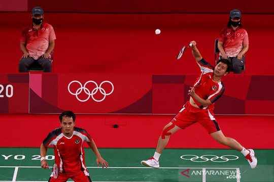 Ganda putra Hendra/Hasan juarai grup D menuju perempat final Olimpiade Tokyo