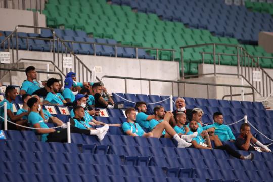 Pemain Brazil ledek Argentina tersisih dari sepak bola Olimpiade Tokyo
