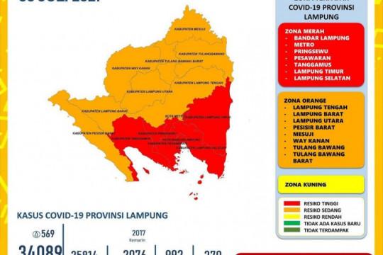 Bandarlampung, Lampung Timur dan Pringsewu catat penambahan kasus COVID di atas 100