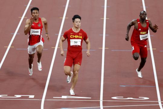 Zohri finis di posisi kelima dengan catatan waktu 10,26 detik