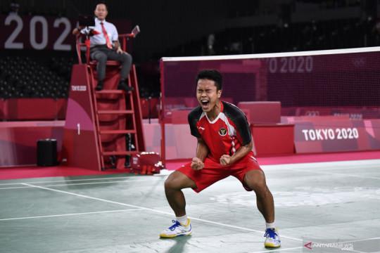 Ginting menuju ke semifinal Olimpiade Tokyo 2020