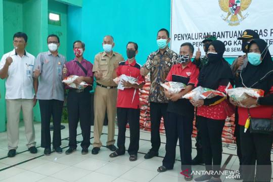 1.483 ton beras bantuan PPKM dibagikan di Kota Semarang