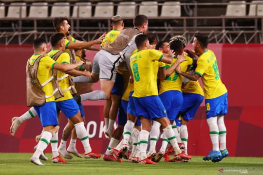 Menang adu penalti, Brazil melaju ke final Olimpiade Tokyo 2020