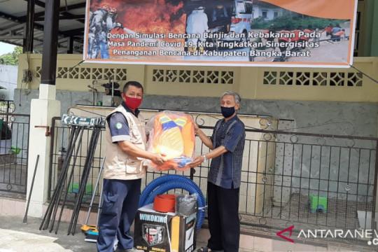 PT Timah bantu alat penanggulangan bencana kampung rawan banjir