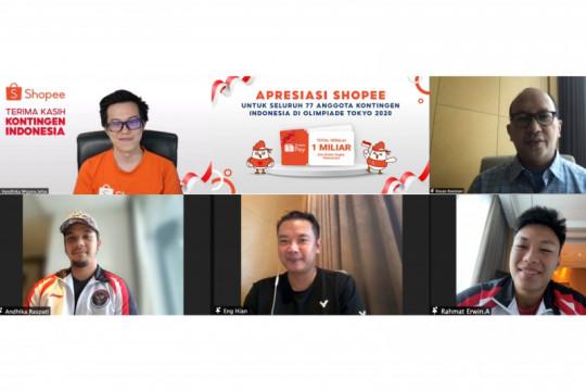 Shopee beri bonus Rp1 miliar untuk seluruh kontingen Indonesia di Olimpiade Tokyo