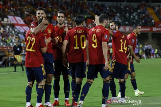 Spanyol kembali ke jalur kemenangan saat menghancurkan Georgia 4-0