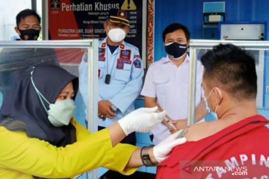65 WBP Lapas Tanjung Pandan ikuti vaksinasi COVID-19