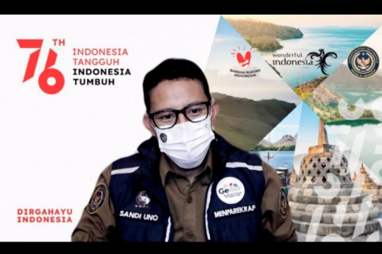 Menteri Sandiaga: Destinasi wisata siap sambut wisatawan tervaksinasi