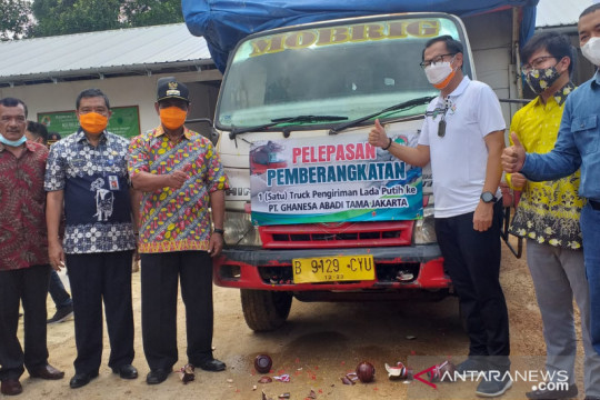 Bupati Belitung melepas pengiriman enam ton lada putih