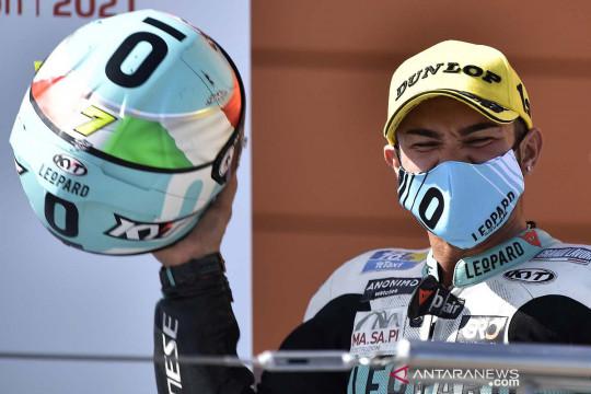 Dennis Foggia juara Moto3 Aragon GP di Spanyol
