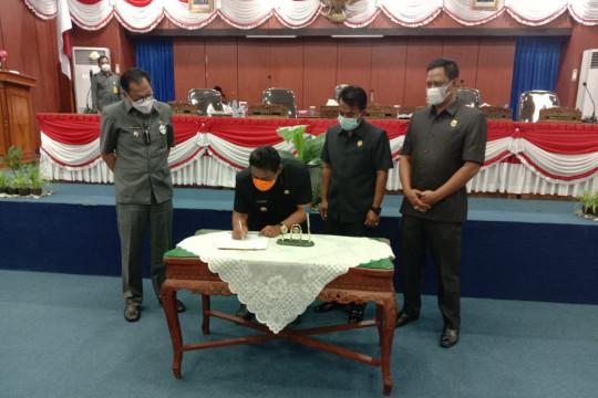 DPRD Belitung sahkan rancangan perubahan APBD tahun 2021