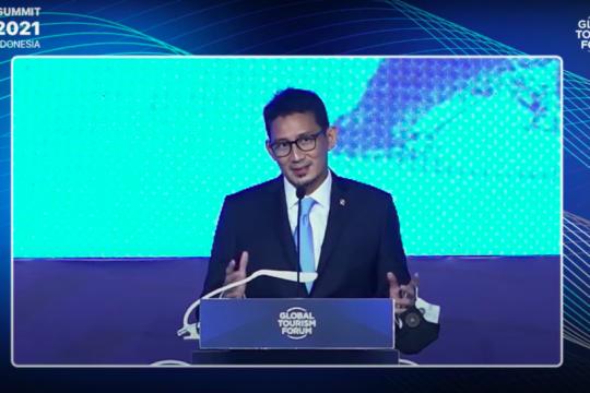Sandiaga Uno sampaikan dua pesan penting pada Global Tourism Forum 2021