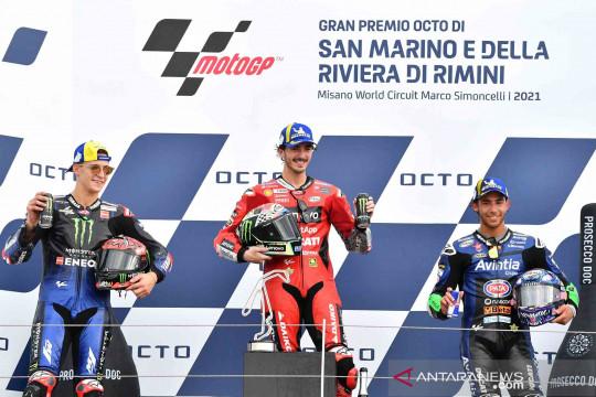 Pebalap Francesco Bagnaia jadi kampiun di San Marino MotoGP