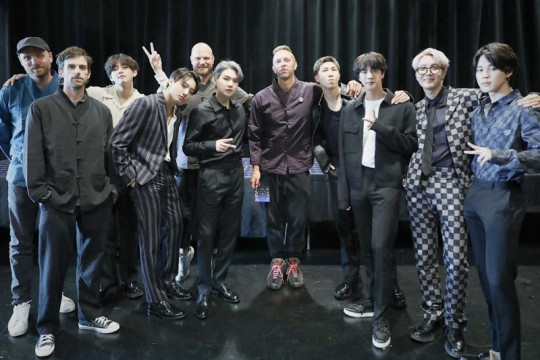 BTS dan Coldplay berjumpa di New York jelang rilis