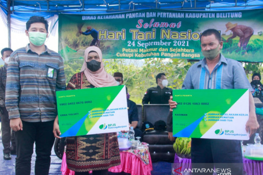 150 petani Belitung ikut program BPJS Ketenagakerjaan