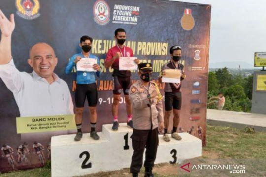 ISSI Bangka Selatan juara Kejurda MTB XC Olimpic di Pangkalpinang