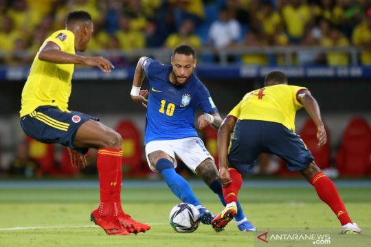 Brazil harus berbagi poin dengan Kolombia setelah bermain imbang 0-0