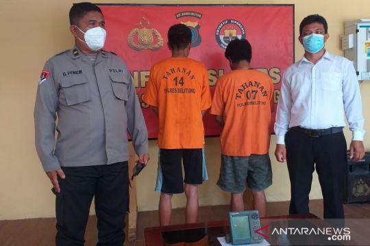 Polres Belitung tangkap dua pelaku pencurian radar dan satelit ikan