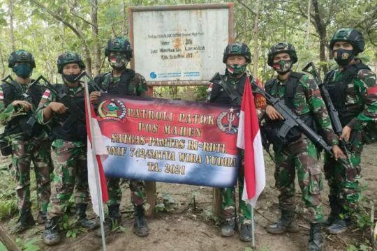 Menjaga patok batas RI dan Timor Leste