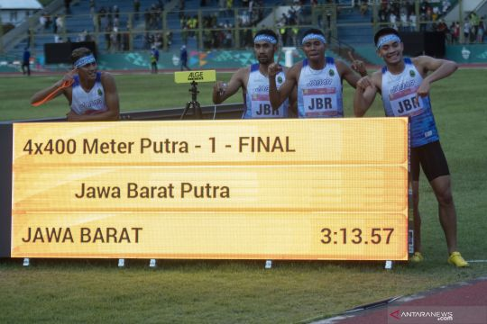 PON Papua: Jabar juara lari 4X400 meter estafet putra