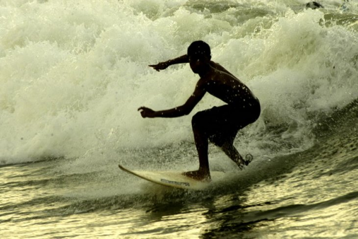World junior professional surfers compete in Bali