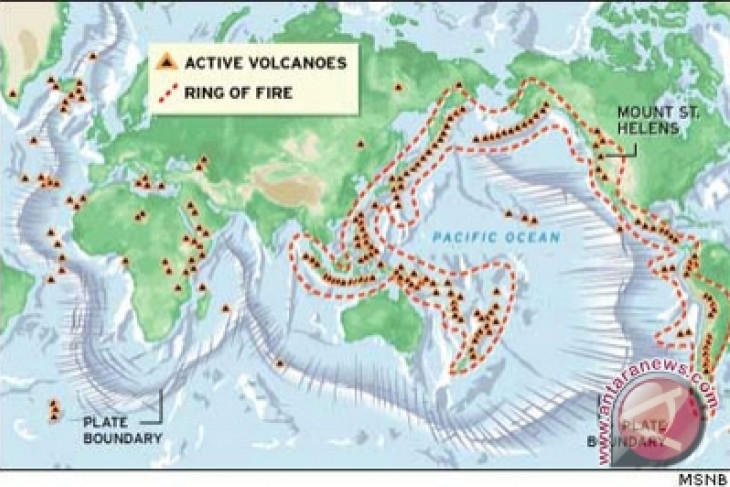 "RI sits on Pacific ""ring of fire"" : official"