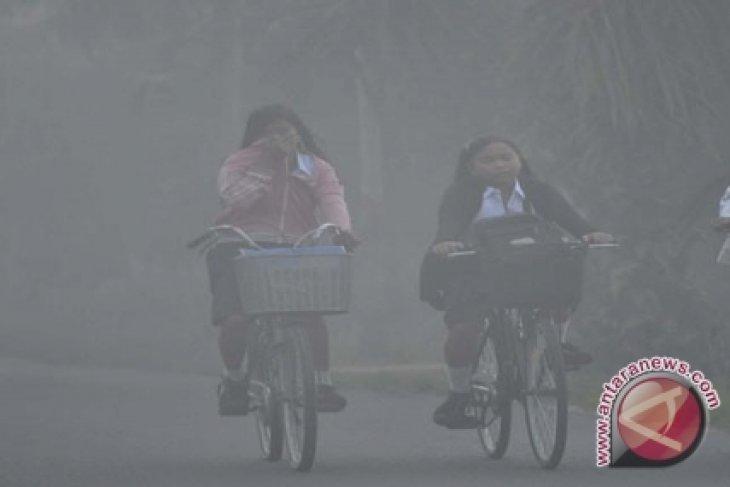 Kabut asap masih selimuti Kota Batam