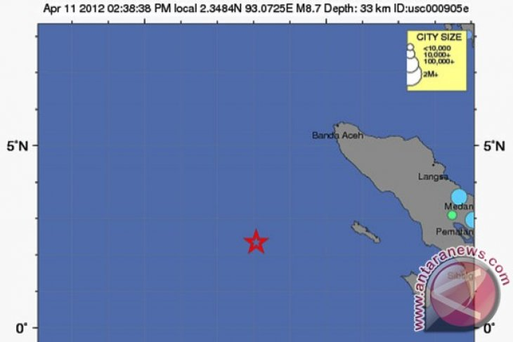 Earthquake jolts Aceh