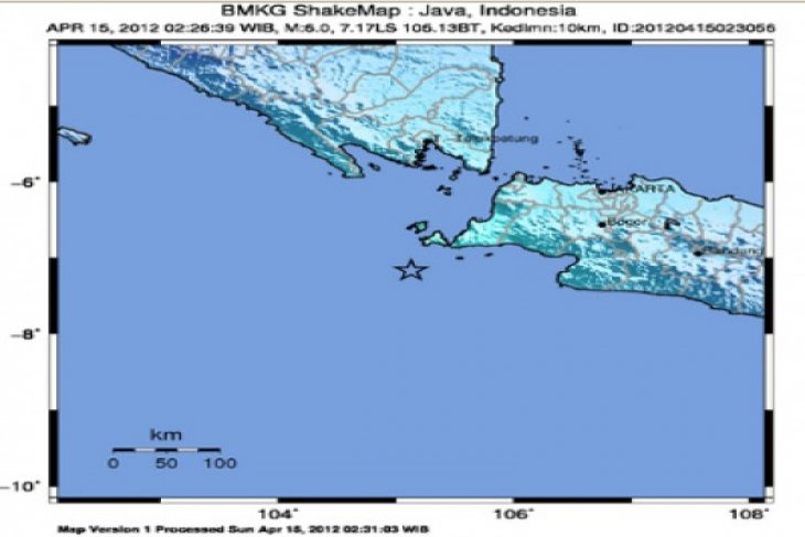No reports of damages, casualties in Ujung Kulon earthquake