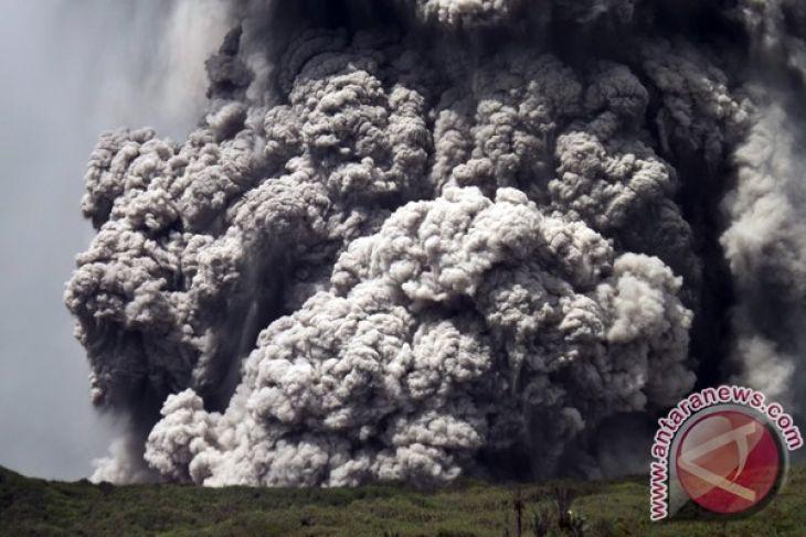 Mount Lokon erupted