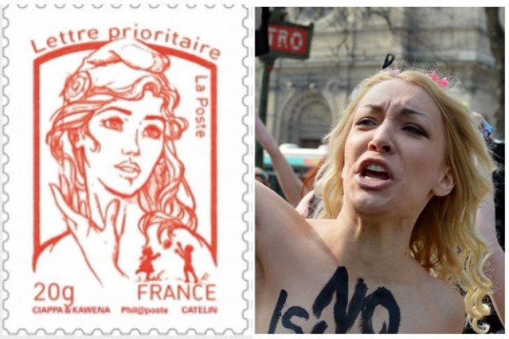 Topless activist inspires France`s new Marianne stamp