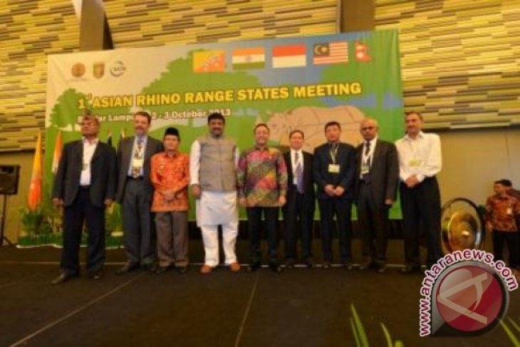 The Minister of Forestry Inaugurated the First Asian Rhino Range States Meeting