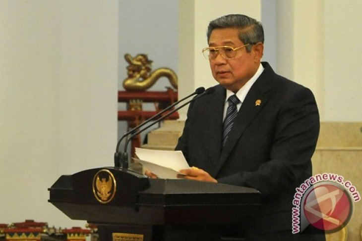 President Yudhoyono holds meeting with leaders of high state institutions