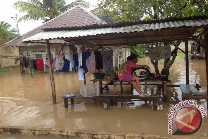Puluhan Rumah Warga Toboali Terendam Banjir