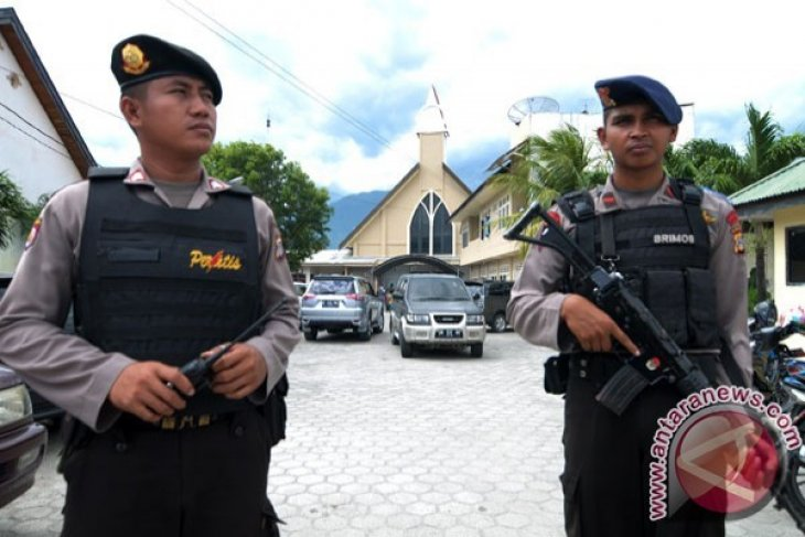 Polresta Bogor Sterilkan Sejumlah Gereja Jelang Natal