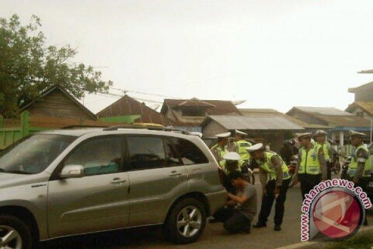 Razia Gabungan Kendaraan Bermotor di Singkawang