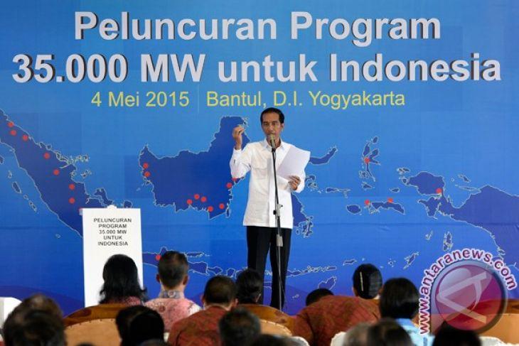 President Jokowi launches 35 thousand-MW power plant development program