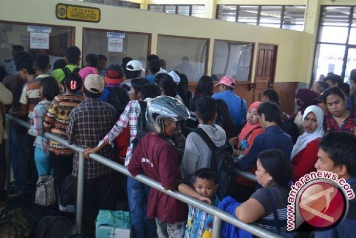 Jumlah Penumpang Pelabuhan Penyeberangan Gorontalo Naik
