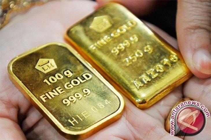 Emas turun seiring bangkitnya kembali pasar saham AS