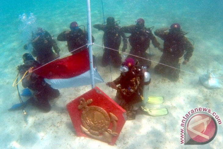 Indonesian navy marine corps successfully plant one million coral reefs