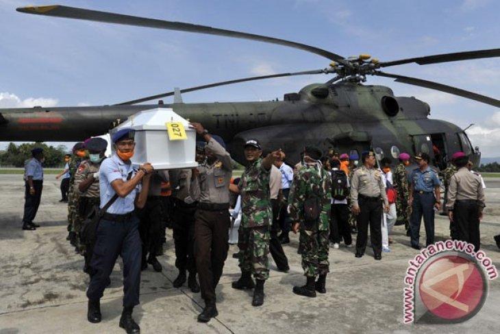 All bodies of Trigana crash victims arrive at Bhayangkara Hospital
