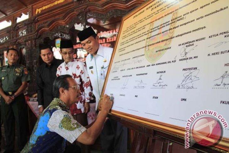Religious leaders in Kudus declare interfaith harmony