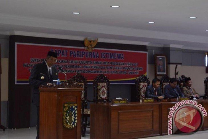 DPRD Sintang Setujui LKPJ Pemkab Tahun 2015