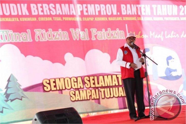 Gubernur Banten Lepas 80 Bus Mudik Gratis