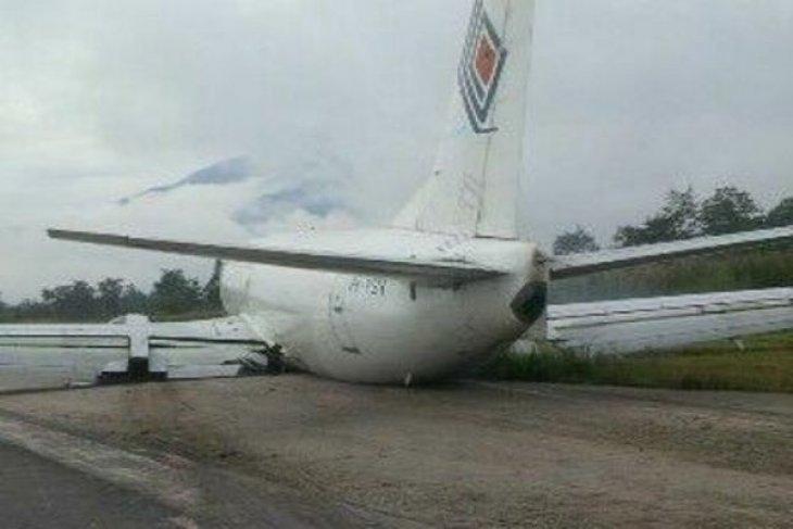 Pesawat cargo Trigana Air Service tergelincir di Bandara Sentani