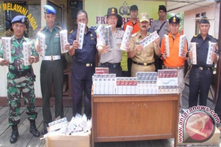 Polisi amankan 121 slop rokok tanpa cukai