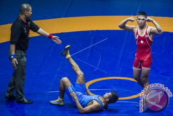 PON 2016 - Tim Gulat Kaltim Tambah Dua Medali Emas